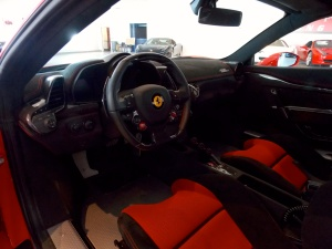 Beautiful bucket seats and a true race car interior.