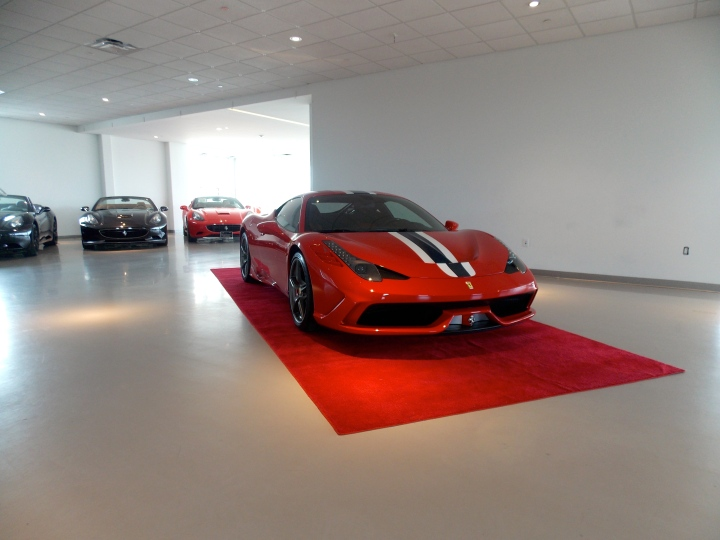 The beautiful 458 Speciale with some original 458's in the background!