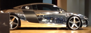 Chrome Audi R8.